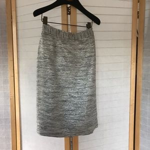 Sz 8 kate spade silver tinsel pencil skirt festive